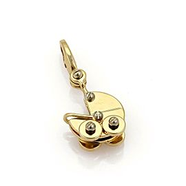 Cartier 18k Two Tone Gold Baby Carriage Charm Pendant