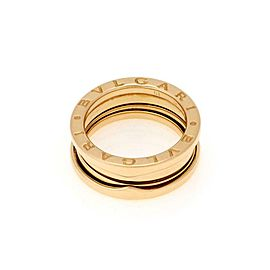 Bvlgari Bulgari B Zero1 18k Yellow Gold 8mm Wide Band Ring Size 51-US 5.75