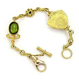 Contemporary Tesora 9.72ct Diamond & Gems Enamel Face Charm Bracelet