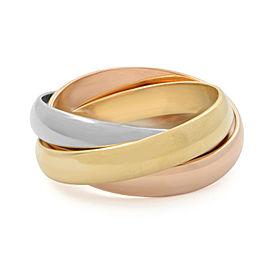 Cartier Trinity 18K Three-Tone Gold Classic Ring Size 50 US 5.5
