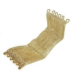 Cartier Draperie de Decolette 18k Yellow Gold 22 Bead Strand Bracelet Paper