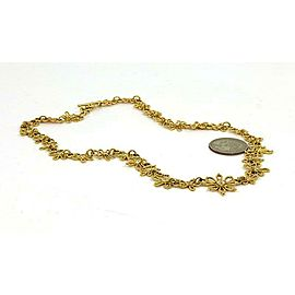 Estate 1.80ct Diamond 18k Yellow Gold Floral Link Necklace