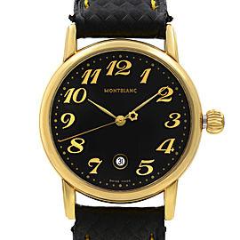 Montblanc Meisterstuck Gold Tone Steel Black Dial Quartz Ladies Watch 7005