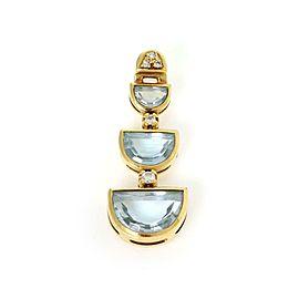 H.Stern Diamond & Blue Topaz 18k Yellow Gold Triple Tier Pendant