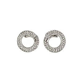 65974 H.Stern 1.50ct Diamond 18k White Gold Circle Stud Earrings