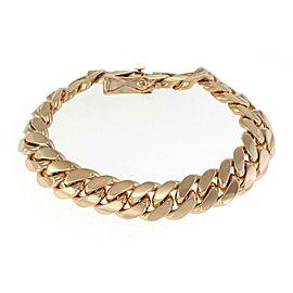"Massive 14k Yellow Gold 15mm Wide Cuban Curb Link Chain Bracelet 9.5""L 162g"