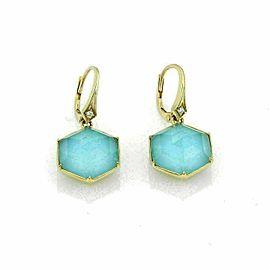 Stephen Webster Deco Blue Quartz & Diamond 18k Gold Octagon Earrings Rt. $2,600