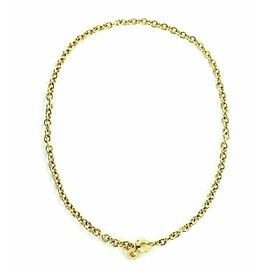 Bvlgari 18k Yellow Gold 5mm Oval & Round Link Chain Necklace