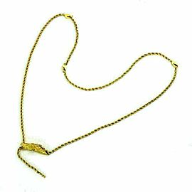 Carrera y Carrera Diamond 18k Yellow Gold Horse Pendant Rope Chain Necklace