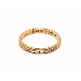 Cartier Diamond d'Amour 18k Pink Gold Band Ring Size 48 w/Cert Rt. $2,870