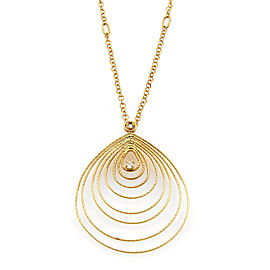 Roberto Coin Mauresque Diamond Tear Drop 18k Yellow Gold Necklace