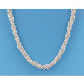 Mikimoto 8 Strand Kashi Pearls Silver Clasp Necklace
