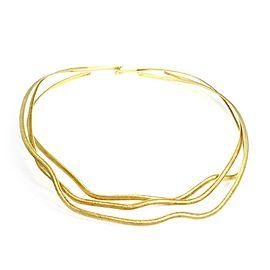 H.Stern 18k Yellow Gold Set of 3 Wave Design Flex Wire Choker Necklace