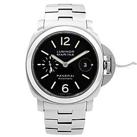 Panerai Luminor Marina Stainless Steel Black Dial Automatic Mens Watch PAM00299