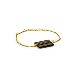Victoria Casal 18k Yellow Gold Black Diamonds & Gray MOP Bracelet