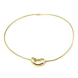 Tiffany & Co. Peretti 18k Yellow Gold Bean Slide Pendant Wire Necklace