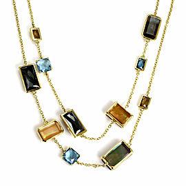 "Ippolita Rock Candy Gelato Beverly Gems Station 18k Yellow Gold 36"" Necklace"