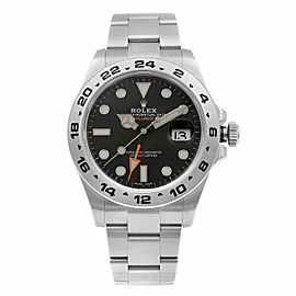 Rolex Explorer II GMT Stainless Steel Black Dial Automatic Mens Watch 216570