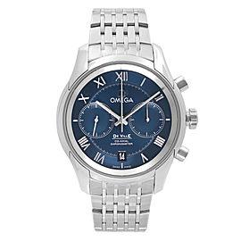 Omega De Ville Co Axial Steel Blue Dial Automatic Men Watch 431.10.42.51.03.001