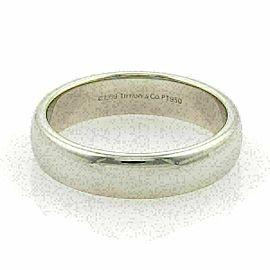 Tiffany & Co. Platinum 6mm Wide Wedding Band Ring