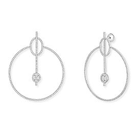 Messika Glam'Azone 18k White Gold Pave Diamond Earrings 2.52cttw