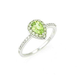 Damiani Bliss Green Garden Peridot Diamond 18k White Gold Ring