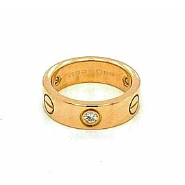 Cartier Love 3 Diamond 18k Yellow Gold 5.5mm Band Ring Size 49 w/Cert