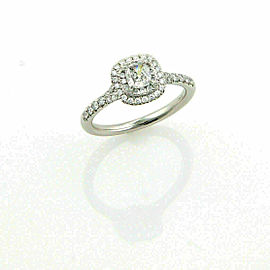 Tiffany & Co. Soleste Diamond Platinum Engagement Ring