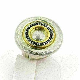 Gurhan Moon Beam Sterling 24k Gold Inlay & Black Diamonds Ring Size 6.5