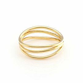 Tiffany & Co. Elsa Peretti 18k Yellow Gold 3 Row Wave Band Ring