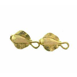 Sting Ray Fish 14k Yellow Gold Stud Earrings