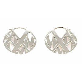 Tiffany & Co. Atlas Sterling Silver Flat Round Dangle Earrings