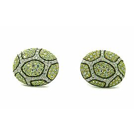 Oval Shape 2.00ct Diamond 14k White Gold Post Clip Earrings