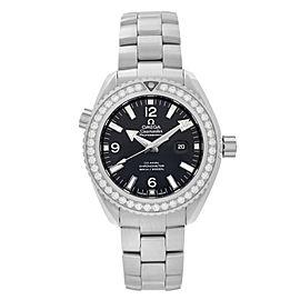 Omega Seamaster Planet Ocean 38mm Steel Diamond Ladies Watch 232.15.38.20.01.001