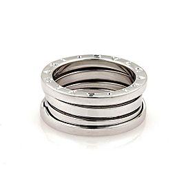 Bvlgari Bulgari B Zero-1 18k White Gold 8mm Band Ring Size 53-US 6.25