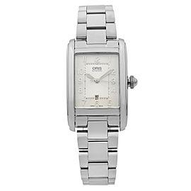 Oris Rectangular Steel Silver Dial Ladies Watch 01 561 7692 4061-07 8 18 20