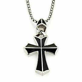 Stephen Webster RAYMAN Sterling Onyx Cross Pendant Necklace