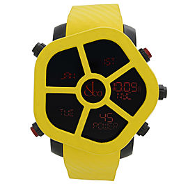 Jacob & Co. Ghost Steel Carbon Bezel Yellow Quartz Watch GH100.11.NS.PC.ANH4D