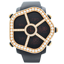 Jacob & Co. Ghost Steel 18K Gold Diamond Bezel Mens Watch GH100.14.RP.MR.AHA4D