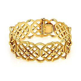 Tiffany & Co. Schlumberger 18k Yellow Gold Bamboo Weave Bracelet