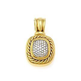 David Yurman Nobelesse 1.00ct Diamond 18k Yellow Gold Gold Oval Cable Pendant