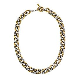 Roberto Coin Sapphire 18k Gold Puffed Curb Link Toggle Clasp Necklace