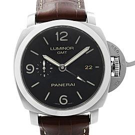Panerai Luminor 1950 3-Days GMT Steel Black Dial Automatic Mens Watch PAM00320