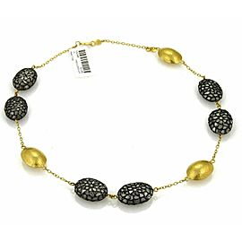 Gurhan Pastiche Sliced Diamonds 24k Gold & Sterling Station Necklace