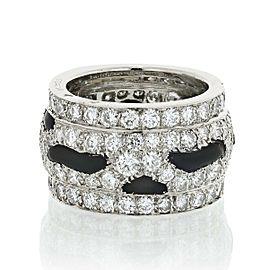 Cartier Platinum Nigeria Diamond and Onyx Eternity Band 4.5cttw Size 5