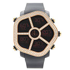 Jacob & Co. Ghost 18kt Rose Gold Diamond Bezel Men's Watch GH100.14.RU.MR.AHA4D
