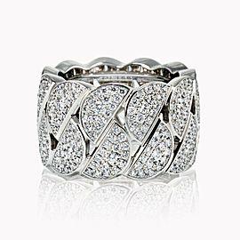 Cartier 18K White Gold Diamond Pave La Dona Ring Size 51