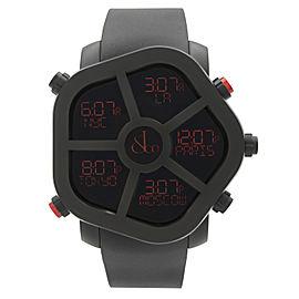 Jacob & Co. Ghost 5 Time Zone PVD Steel Mens Quartz Watch GH100.11.NS.PB.AHA4D