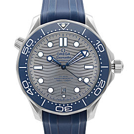 Omega Seamaster Diver 300M Steel Grey Wave Dial Mens Watch 210.32.42.20.06.001