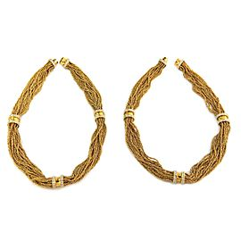 Estate 5ct Diamond 18k Yellow Gold Multi Rope Chain Changeable Necklace